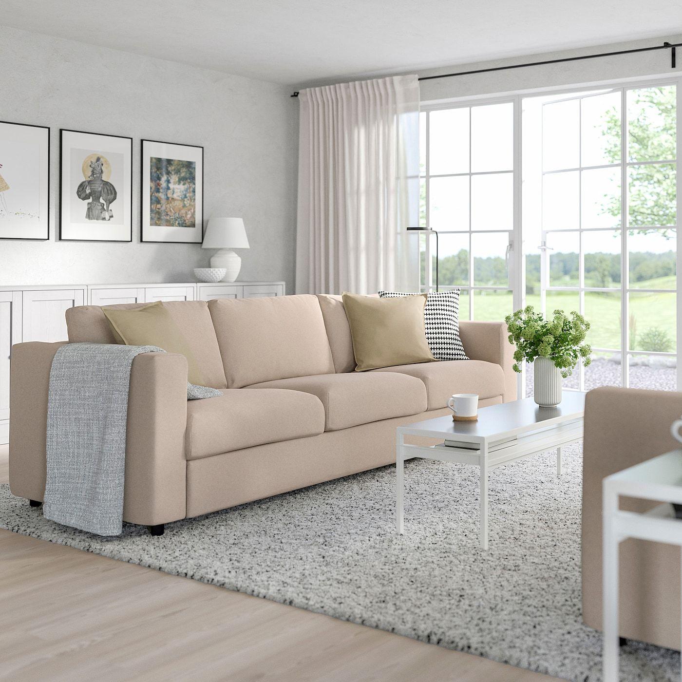Ikea Vimle 3er Sofa Tallmyra Beige In 2020 Bettsofa 3er Sofa Sofa