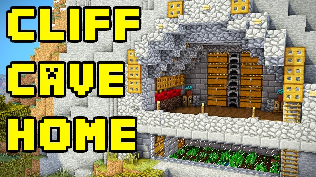 This Minecraft tutorial shows how to build an advanced cliff