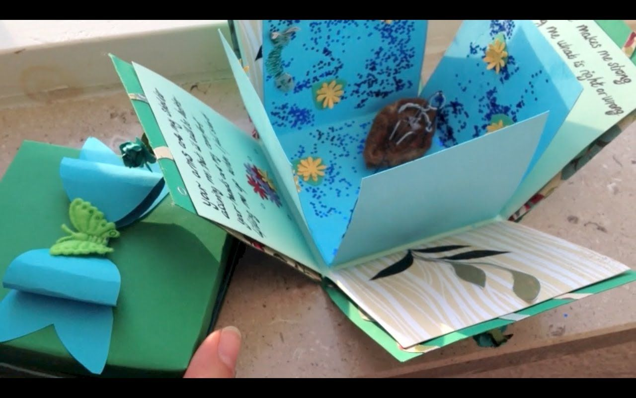 exploding box card and bow diy with images  exploding