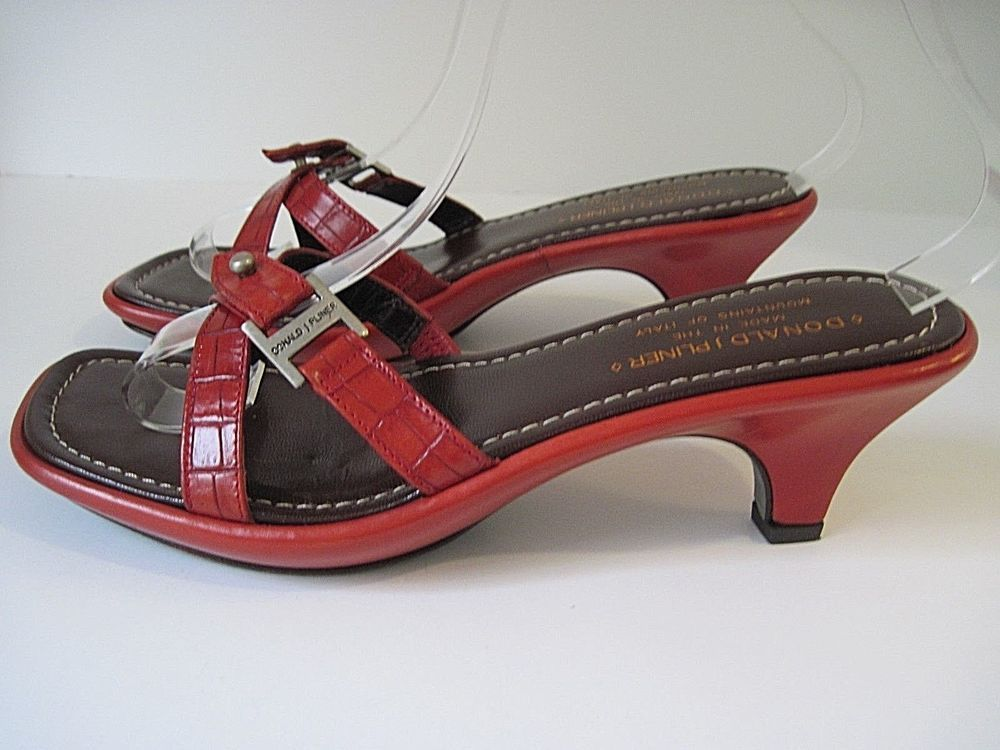 c00b598ee3f Donald J Pliner Joy Womens Red Kogi Sandals Heels open Toe Size 7 1 ...