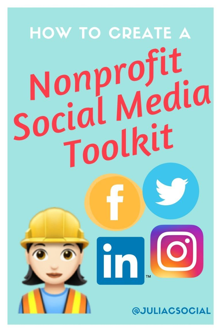 How To Create A Nonprofit Social Media Toolkit For Your Online Fundraising Campaign Marketing For The Modern Nonprofit Nonprofit Social Media Social Media Toolkit Social Media Marketing Campaign