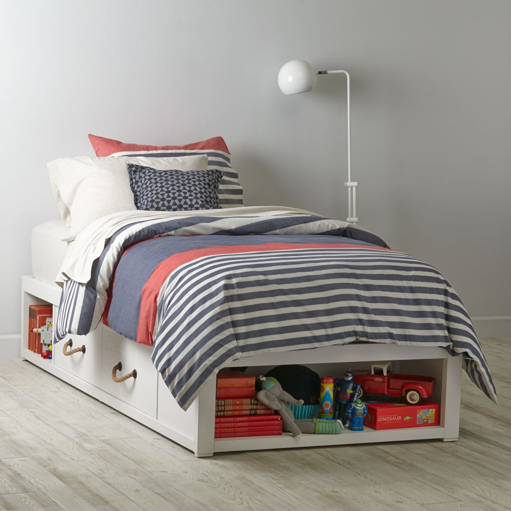 Shop topside storage kids bed white our topside storage white kids bed features four drawers and various storage cubbies shop for storage kids beds