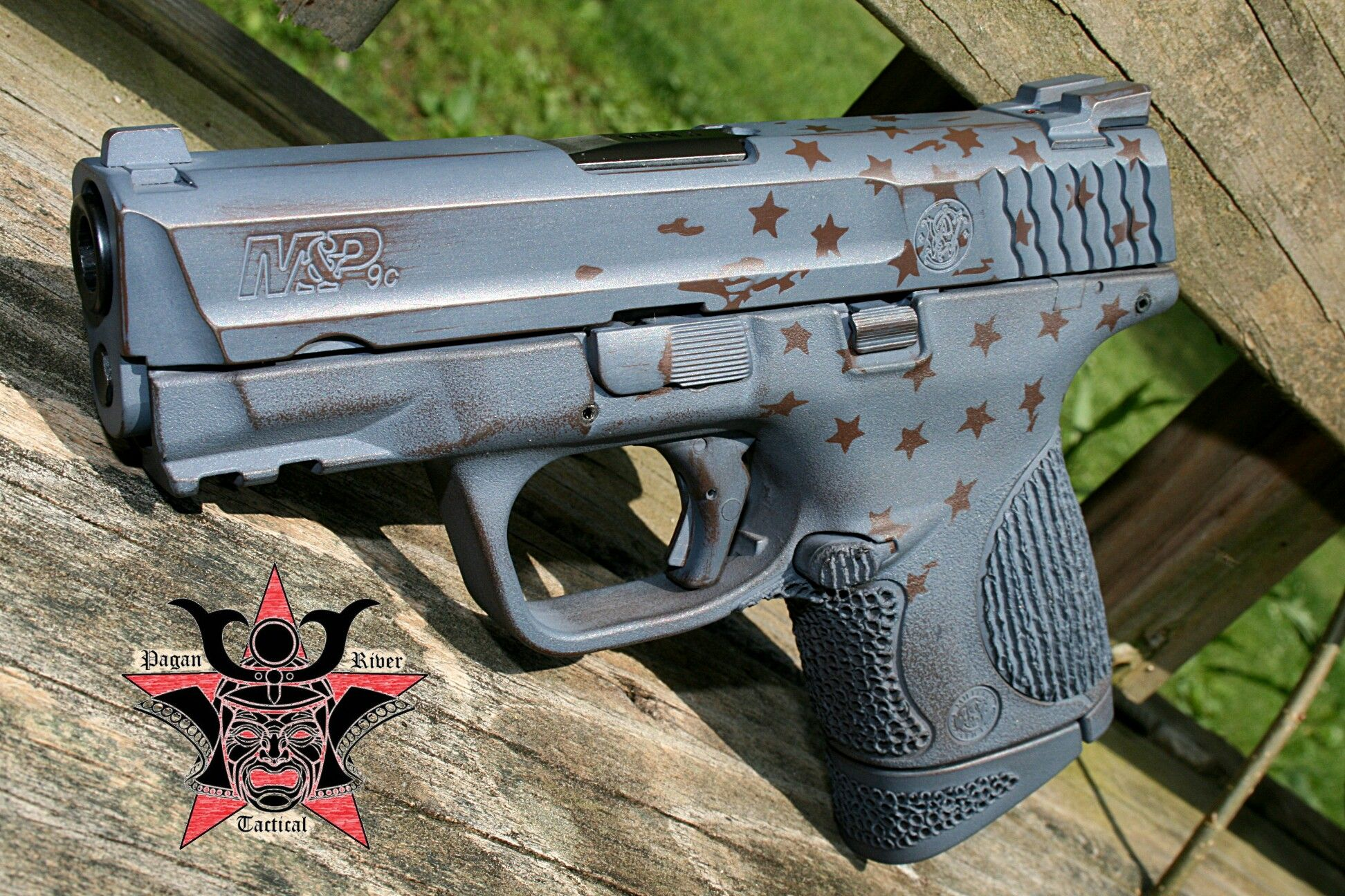 Pagan River Tactical take on some tattered stars on this Cerakote