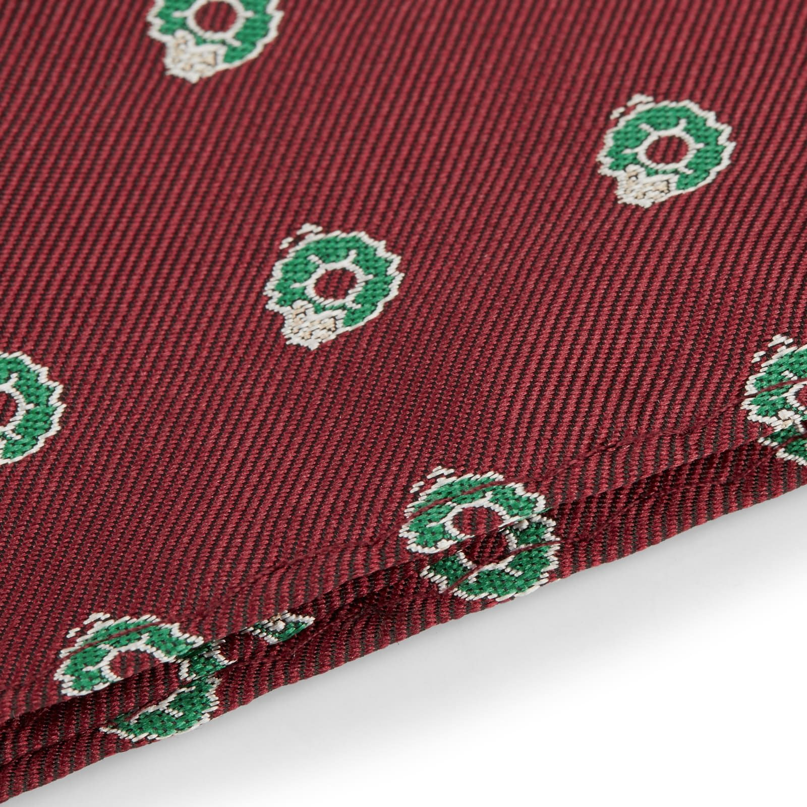 Photo of Burgundy Christmas Pocket Square | In stock! | TND Basics