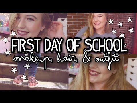 First Day of School Makeup, Hair, & Outfit! | Courtney Graben