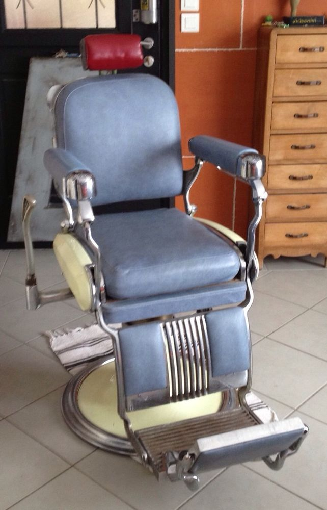 fauteuil coiffeur ancien pied emaille