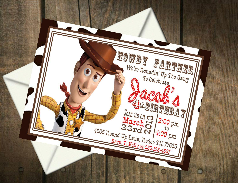 Toy Story Woody Birthday Party Printable by MyPerfectPartyStudio ...