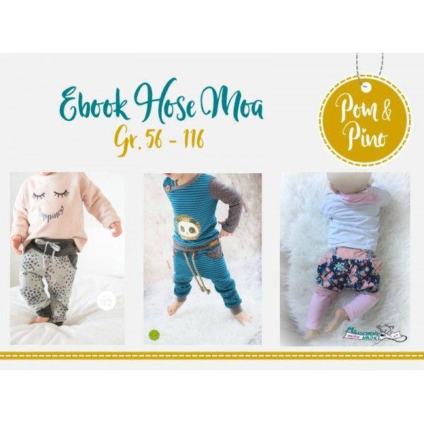 Ebook - Hose Moa * Gr. 56 - 116 * | Schnittmuster | Pinterest