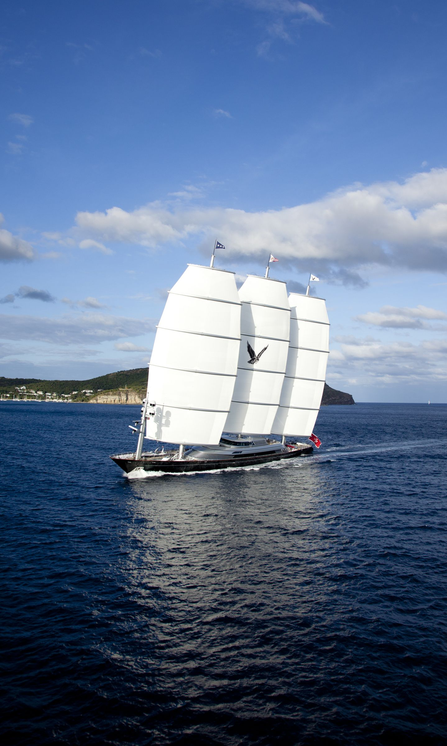 S Y Maltese Falcon Available For Charter Through Burgess A Charter One Off The Multi Award Winning Maltese Falcon Delivers E Sailing Yacht Outdoor Cinema