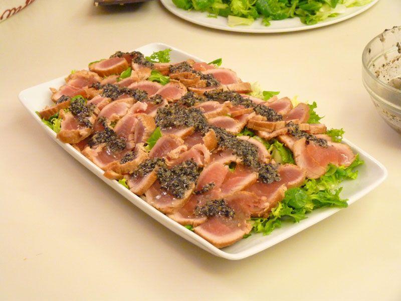 Corso di cucina a bologna: tataki di tonno con sesamo nero u003e chef