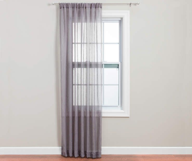 Gray Crushed Voile Sheer Curtain Panel 84 At Big Lots Panel
