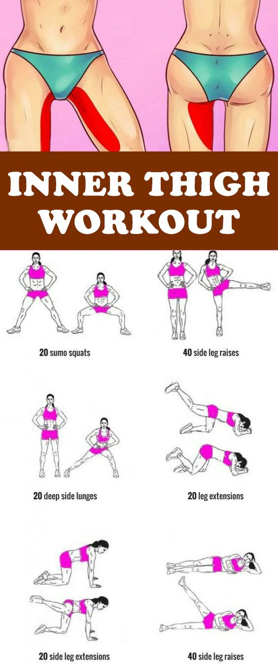 10 Minute Inner Thigh Workout To Try At Home #workouts, # ...