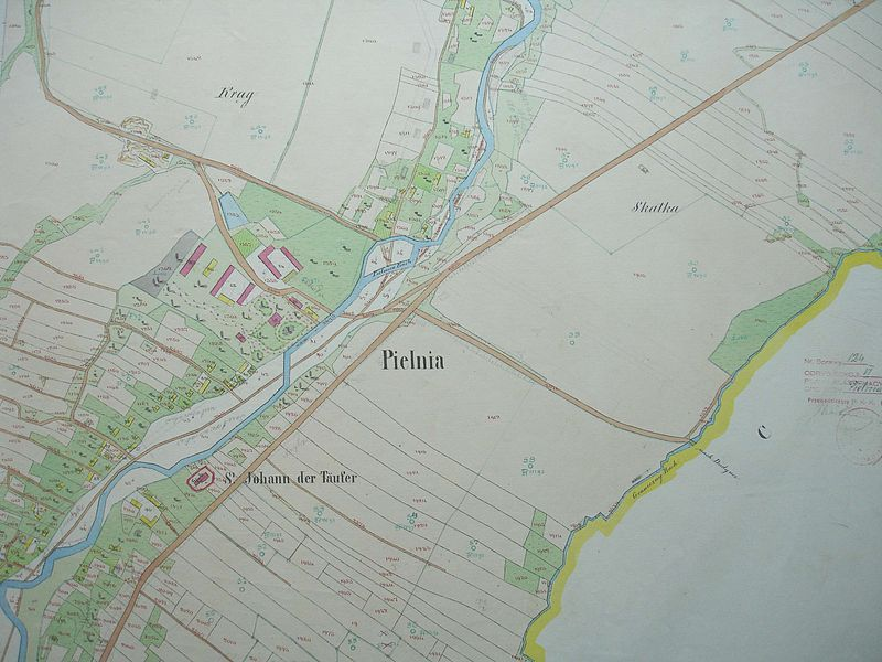 Cadastral map of the village of Pielnia