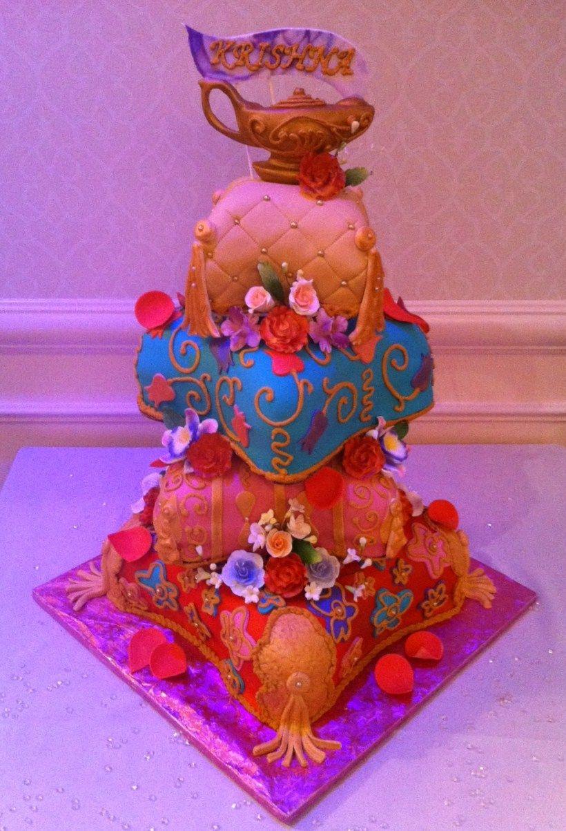 Arabian Nights Themed Quinceanera Cake Four Tier Arabian