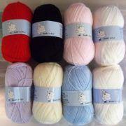 Woolyhippo Super Chunky Yarn Acrylic Wool Soft Nylon Baby 100g Knitting Crochet