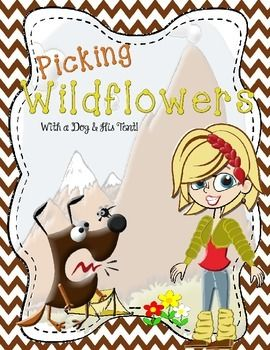 This week's classroom game board is called Picking Wildflowers.  The game board is designed for 2 to 4 players.  To begin the game, give each player three wildflowers.  Place the remaining flowers in a bunch next to the game board.  Players will begin on the trailhead space.