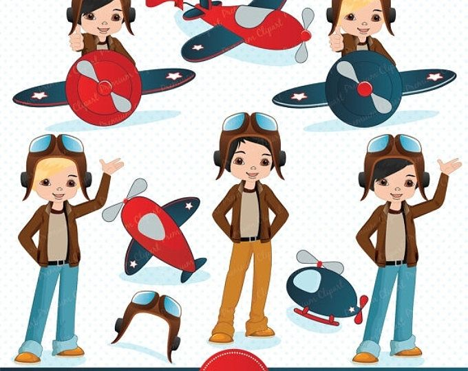 Occupations woman pilot Royalty Free Vector Image