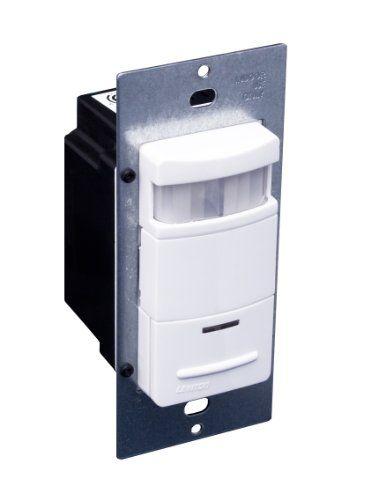 Leviton Ods15idw Decora Passive Infrared Wall Switch Occupancy Sensor 180 Degree 2100 Sq Ft Coverage Selfadjusting Wh Motion Sensor Lights Leviton Light Sensor
