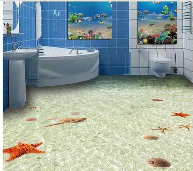 Encargo de la foto papel pintado 3d estereosc pica junto for Bathroom 3d wallpaper