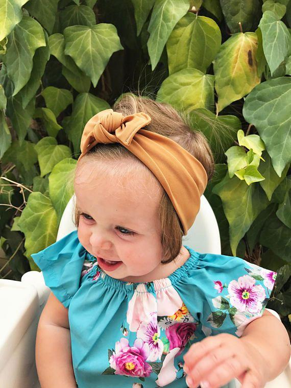 ab1d4af7fb5 Camel NYLON fixed Flat bow nylon baby headband nylon