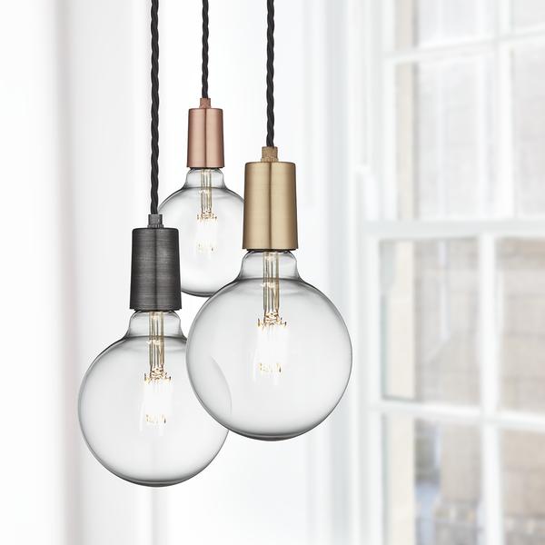 Vintage Sleek Edison 1 - Wire Pendant - Pewter | Decor for Columbus ...