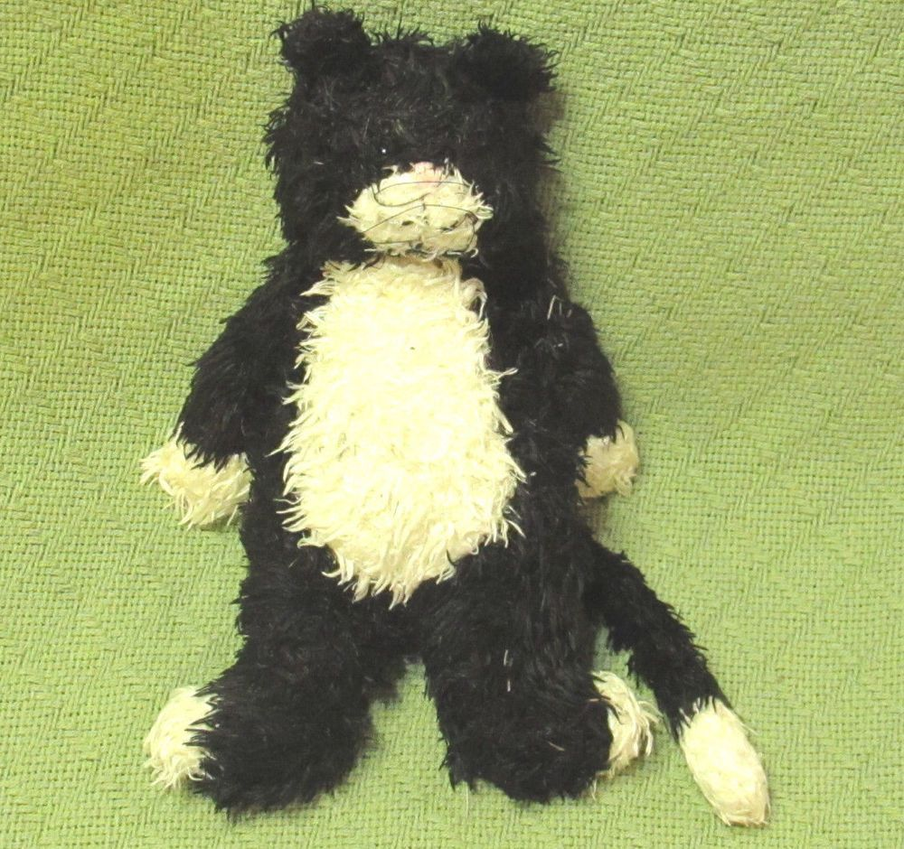 Jellycat Bunglie Mumbles Black White Jelly Cat 11 Plush Bean Stuffed Animal Toy Pet Toys Jellycat Plush