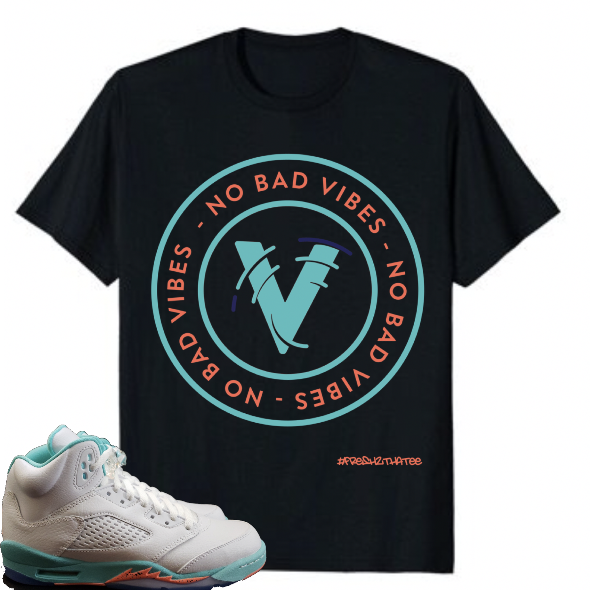 the latest a755c 030d9 Jordan 5 light aqua gs (no bad vibes ) t shirt available in ...