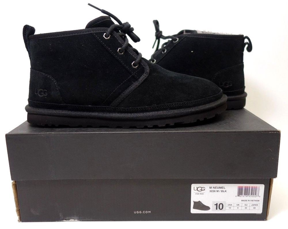 4f05b1c3984 Details about NEW DEFECT MENS SZ 10 BLACK UGG FREAMON WP LEATHER ...