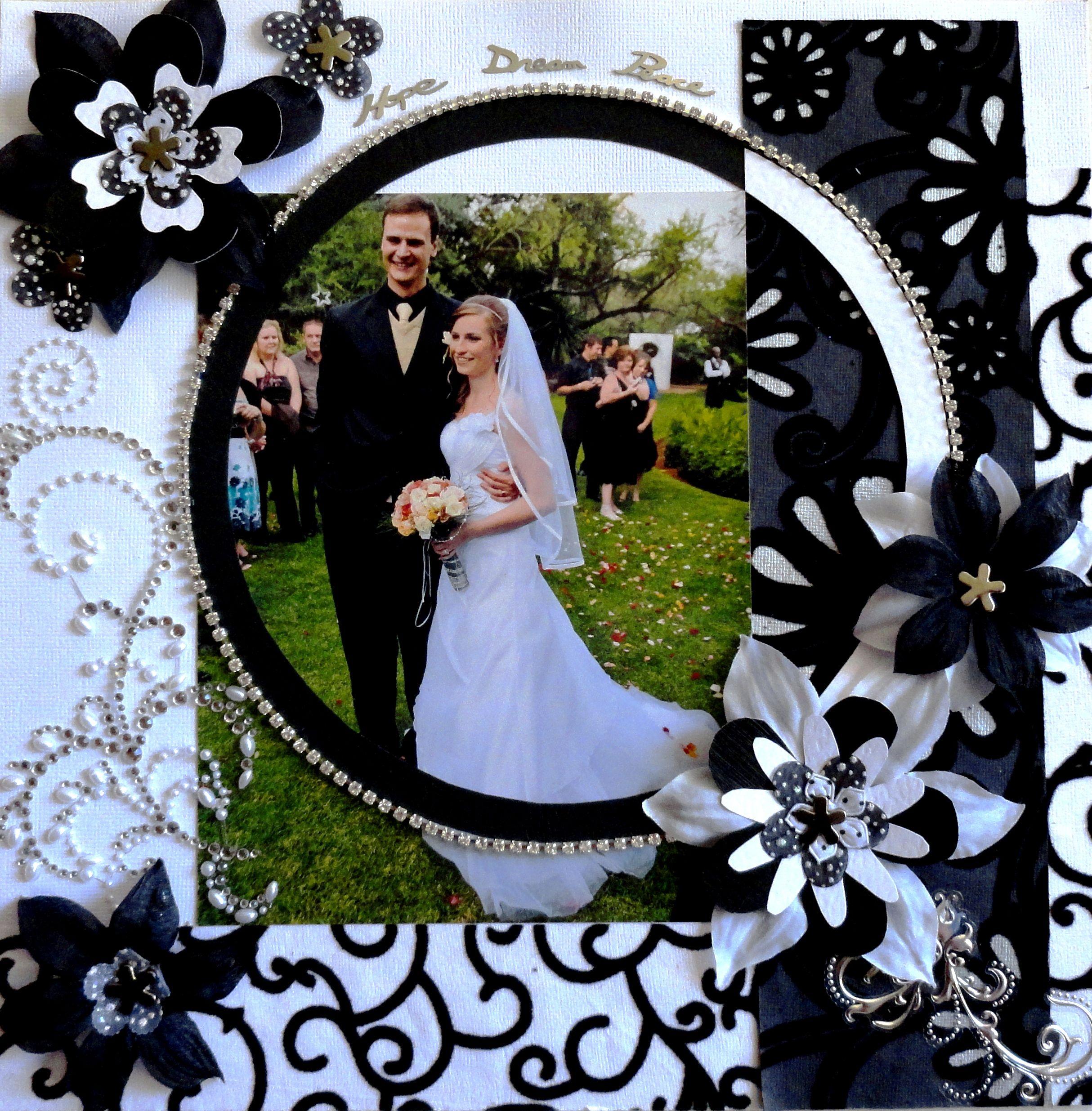 Wedding scrapbook layout wedding Own