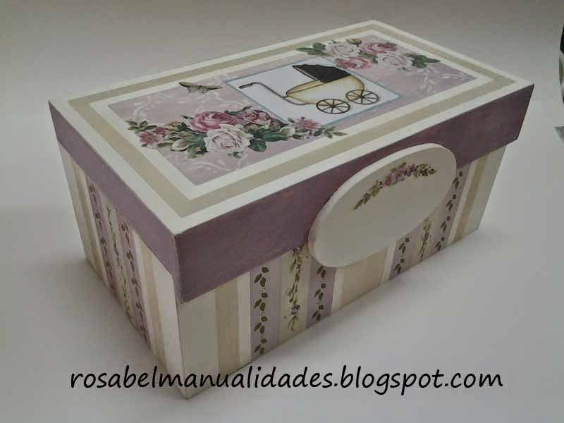 Rosabel manualidades cajas decoradas con decoupage - Manualidades con cajas ...