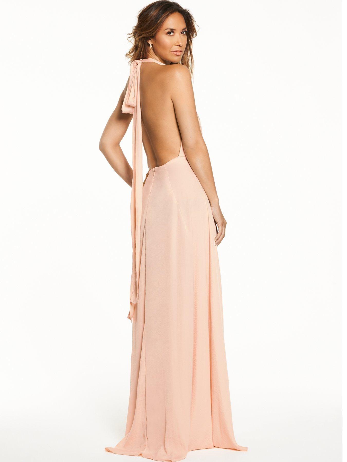 66a95673614f Myleene Klass Deep V Front Tie Maxi Dress | littlewoods.com | Leenie