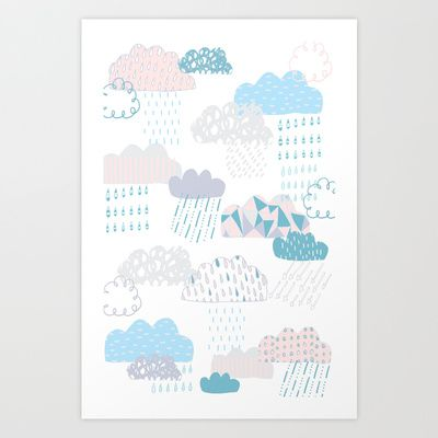 Clouds Art Print | Claire Brown