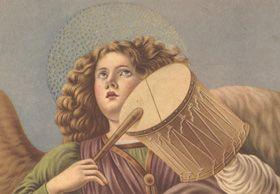 GLI ANGELI NELL'ARTE         Ovviamente i più grandi pittori hanno spesso realizzato bellissime opere dedicate agli angeli: angeli musicanti, angeli cantori o raccolti in preghiera, angeli che accorrono a salutare il neonato Gesù, angeli annuncianti la Nascita Divina, angeli trionfanti ecc.