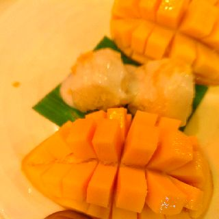 Mango and Sticky Rice and Coconut Milk..Thai's food..@ MangoTango