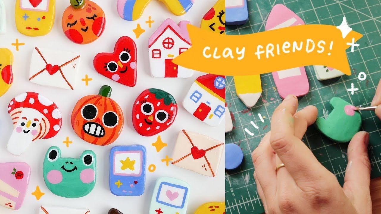 How I Make Clay Pins Cheyenne Barton Polymer Clay Crafts Diy Clay Crafts Clay Crafts