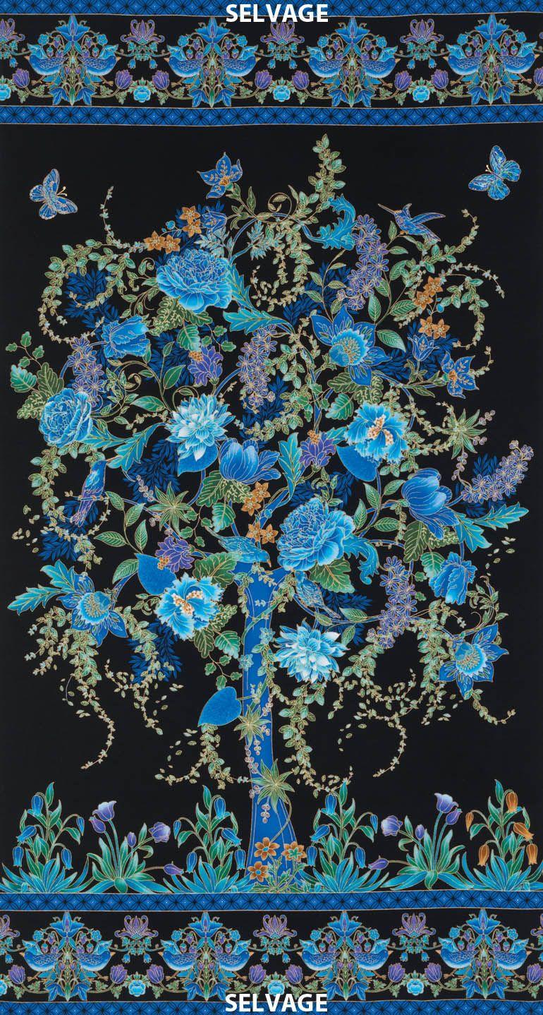 Tree Of Life Panel By Chong A Hwang Timeless Treasures