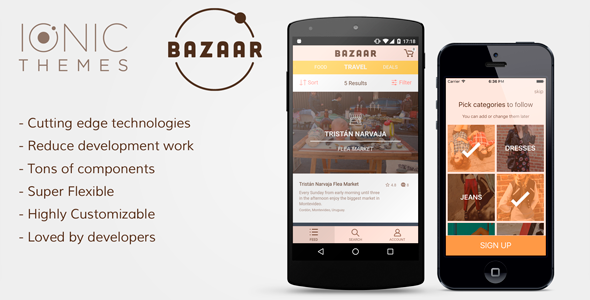 download free bazaar ecommerce ionic app template android angularjs cordova ecommerce feeds filters hybrid app ionic starter app ionic template