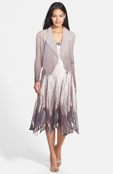 Komarov Embellished Neck Charmeuse Dress & Chiffon Jacket (Regular & Petite) available at #Nordstrom