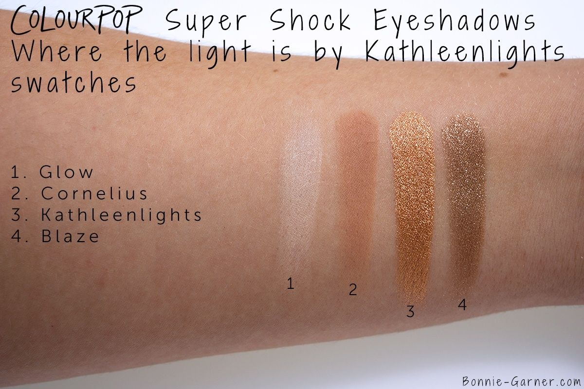 ColourPop Where The Light Is by Kathleen Lights, my review