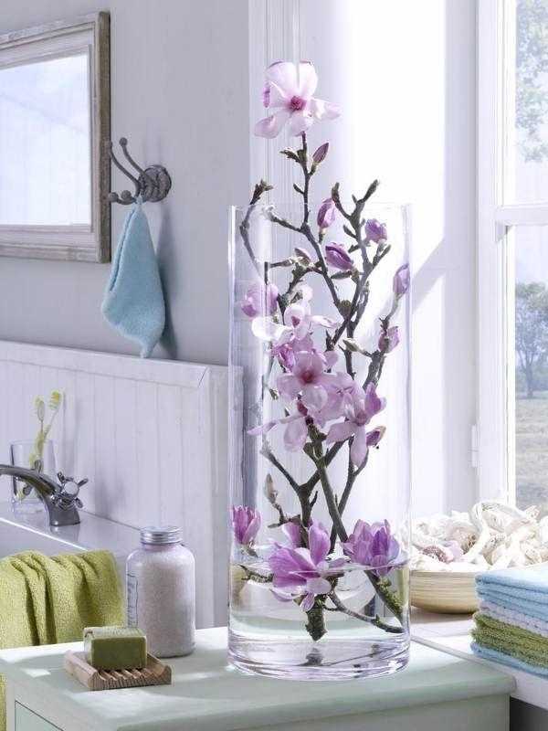 Decorar Con Flores El Cuarto De Baño Cerca Amb Google Decorar Con Flores Artificiales Floreros De Cristal Decoracion Flores Artificiales