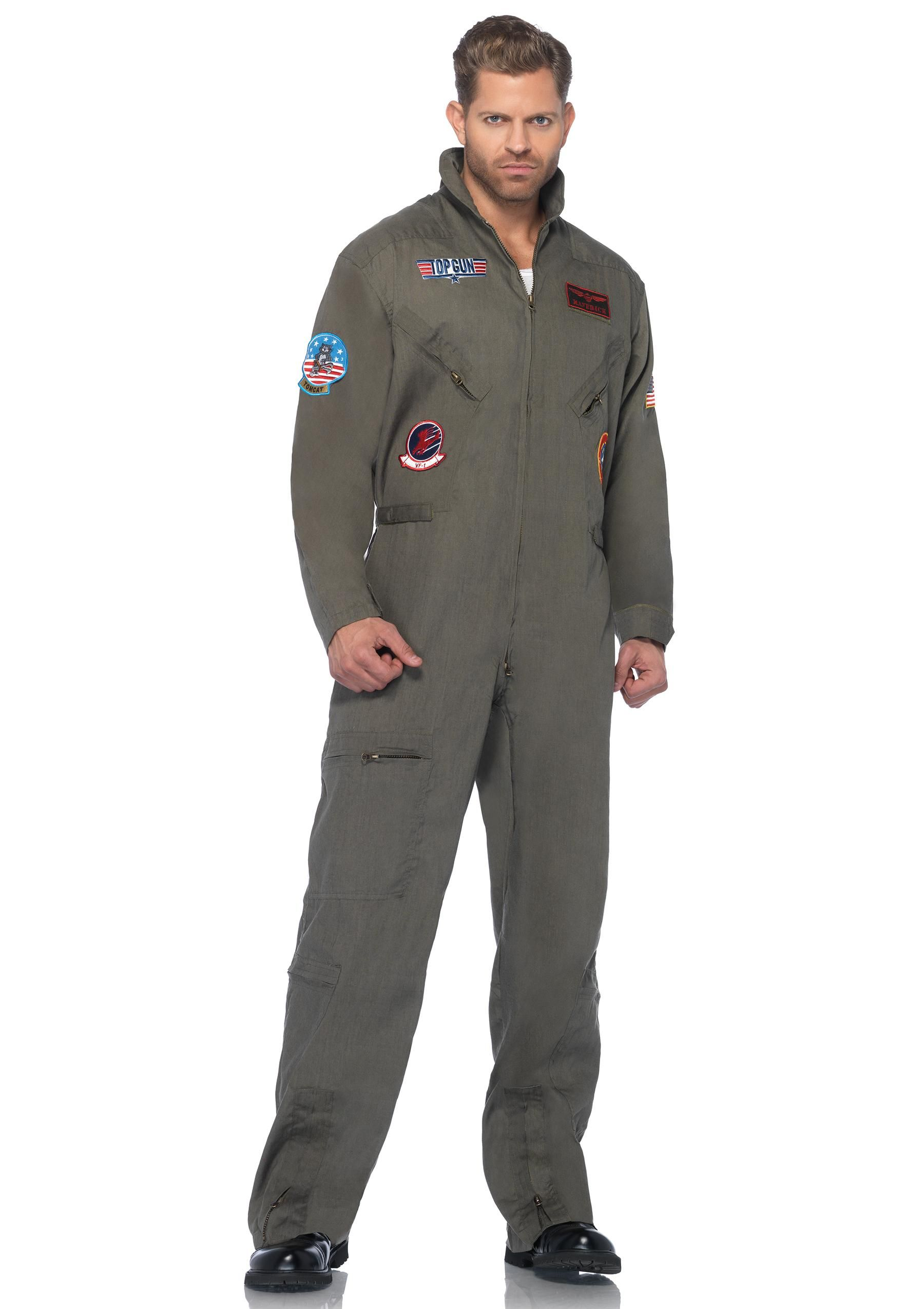 Amazon.com  Top Gun Men s Flight Suit Adult Costume  Pilot Costume  Clothing 360a41fb960