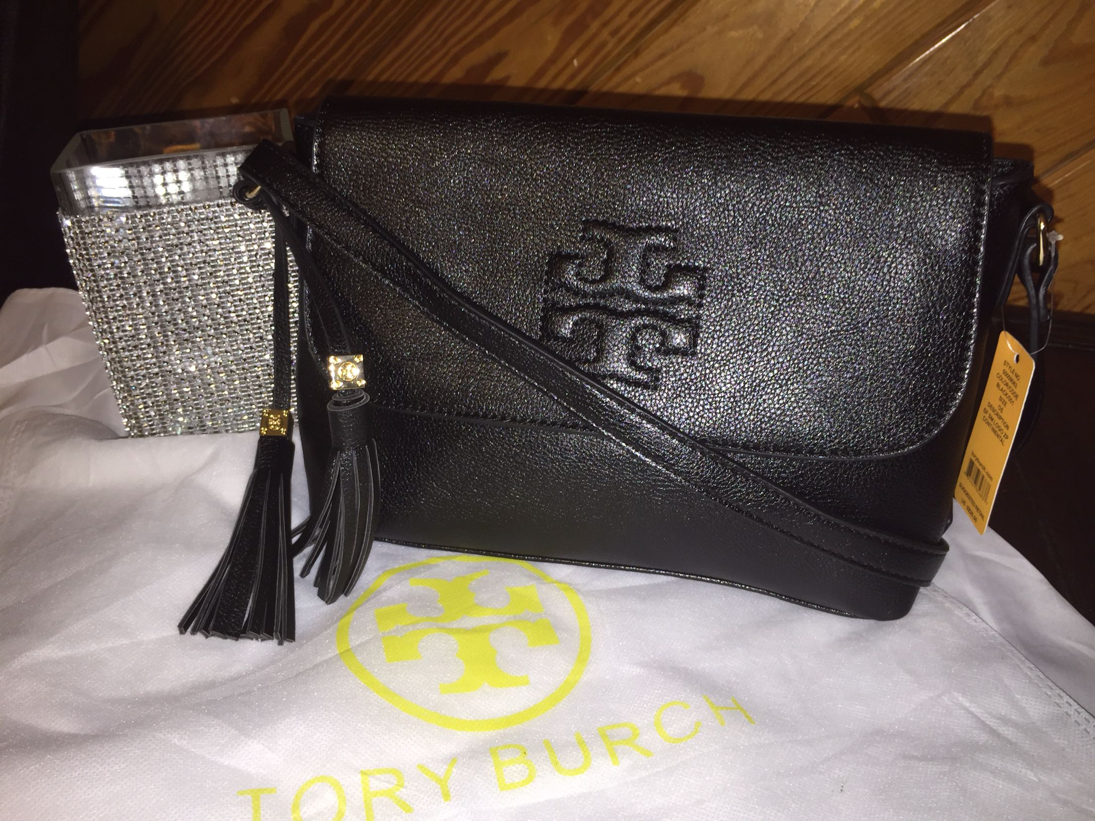 Tory Burch black soft Crossbody $49.00 plus tax and shipping