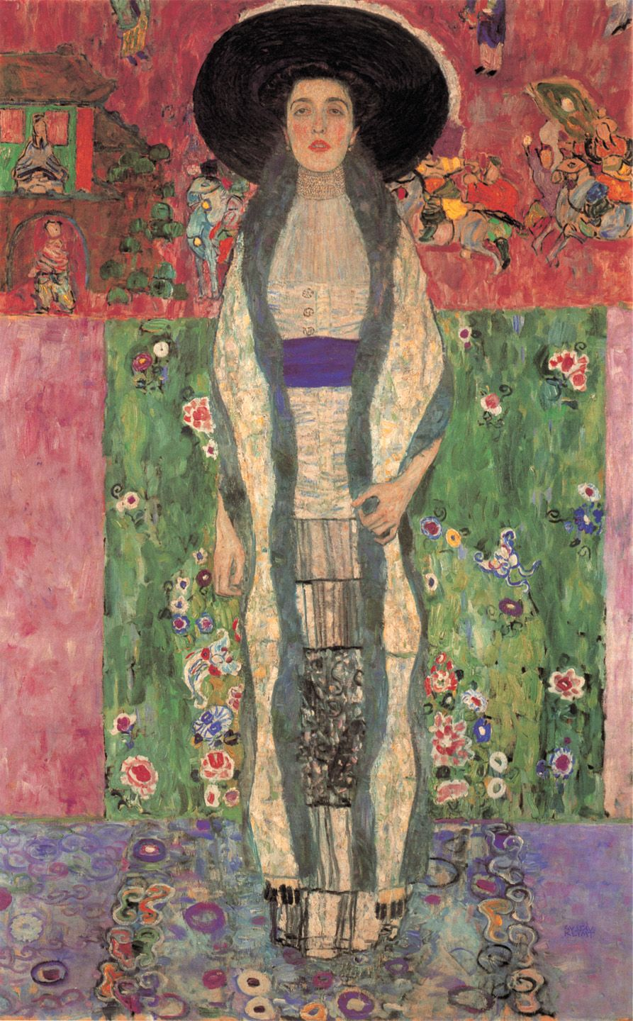 Gustav klimt adele bloch bauer 1912 oil on for Gustav klimt original paintings for sale