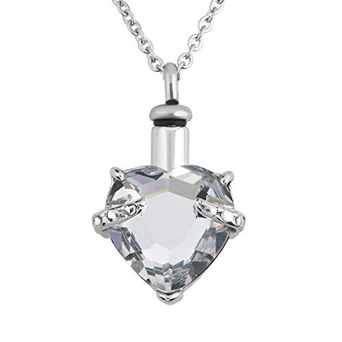 Uniqueen 12 colors heart crystal cremation urn necklace for ashes uniqueen 12 colors heart crystal cremation urn necklace for ashes jewellery memorial keepsake pendant mozeypictures Image collections