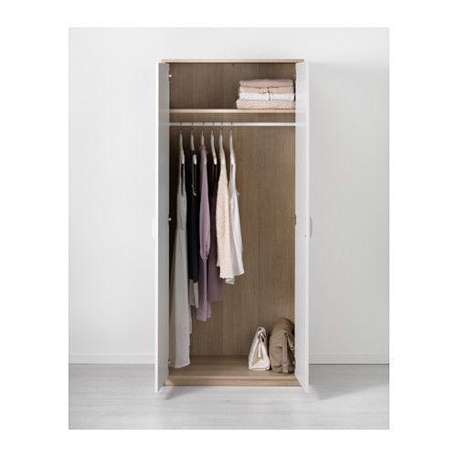ASKVOLL Kleiderschrank, Eicheneff wlas, weiß Wunschlisten und - Ikea Schlafzimmer Schrank