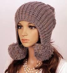 зимние шапки с ушами вязать спицами и крючком Buscar Con Google