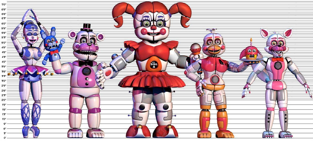аниматроники из систер локейшен имена повсюду новые бутики