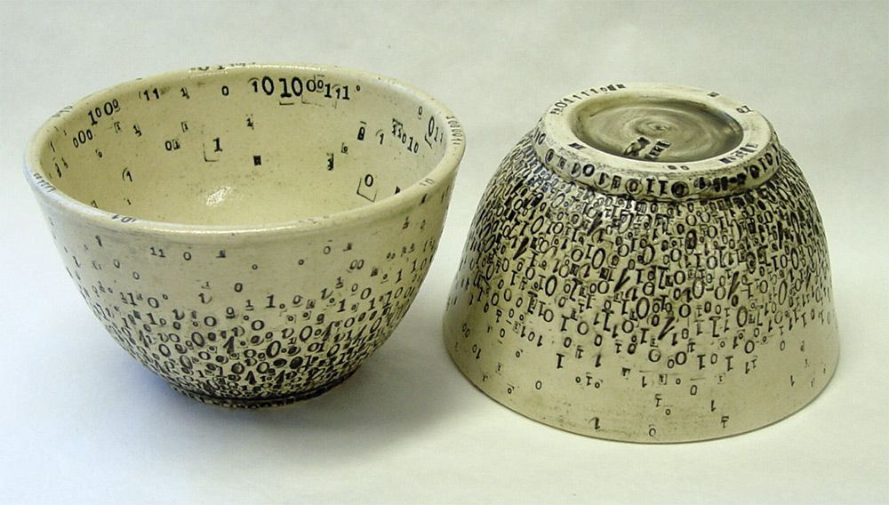 Ceramics Imprinted with Patterns of Vintage Typewriter Letters by ...