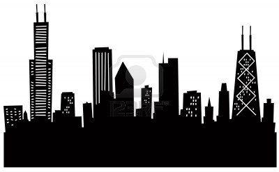 Cartoon Chicago Silhouette Chicago Skyline Art Chicago Skyline Silhouette Skyline Art