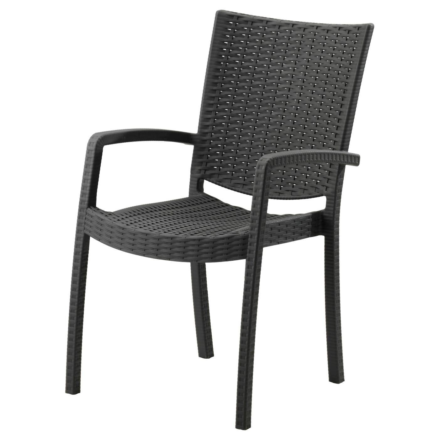 Innamo Armlehnstuhl Aussen Dunkelgrau Ikea Outdoor Ikea